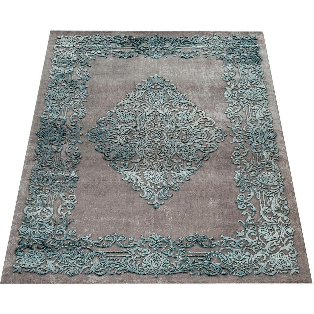 Paco Home Teppich »Theresa 020«, rechteckig, 16 mm Höhe, Kurzflor, Orient-Optik, Vintage Design, Wohnzimmer