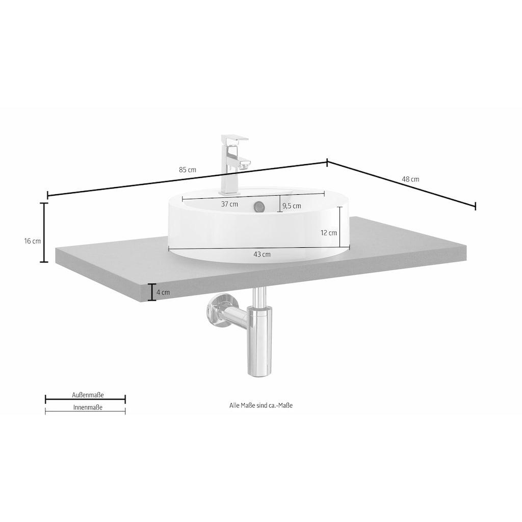 OPTIFIT Waschtisch »Doha«, mit Design-Siphon, Aufsatzbecken rund