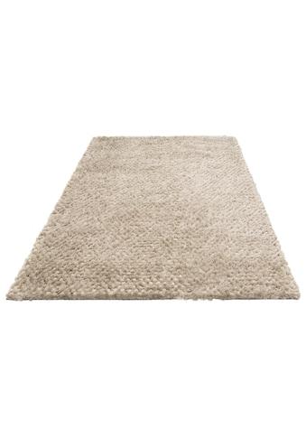 Hochflor - Teppich, »Rasgulla«, Leonique, rechteckig, Höhe 50 mm, handgewebt kaufen
