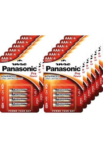 Panasonic »Batterie Alkaline, Micro, AAA, LR03, 1.5V, Pro Power, Retail Blister (48 - Pack)« Batterie kaufen