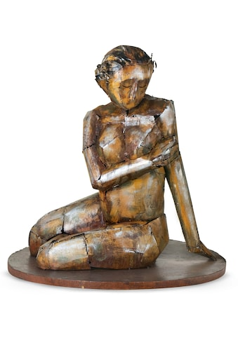 GILDE GALLERY Dekofigur »Skulptur Sinnliche Schönheit«, Dekoobjekt, Höhe 68 cm, handgefertigt, aus Metall, Wohnzimmer kaufen