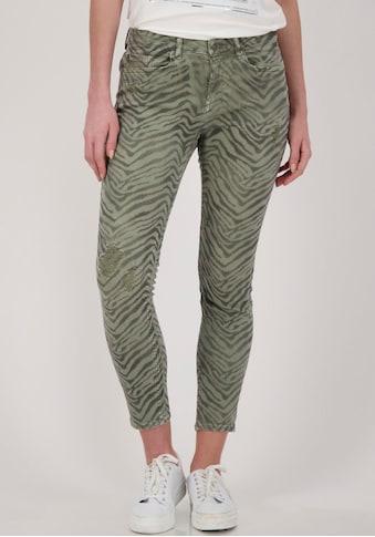 Monari 5-Pocket-Hose, mit Zebra - Druck im Animal - Look kaufen