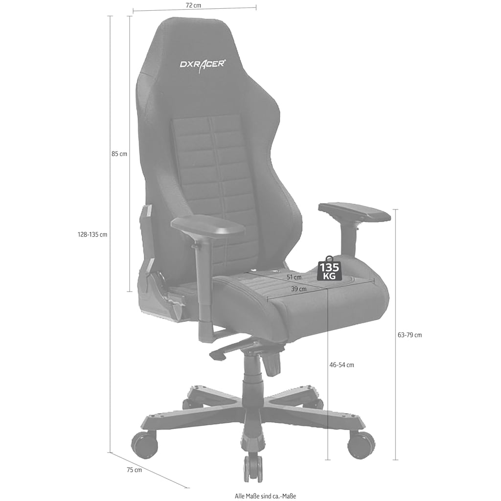 DXRacer Gaming Chair, Iron-Serie, OH/IS132/N