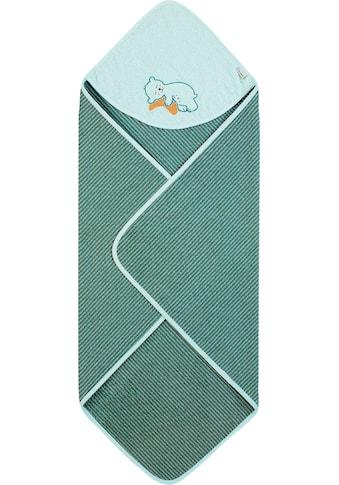 Sterntaler® Kapuzenhandtuch »Ben«, (1 St.), mit schlafendem Bären kaufen