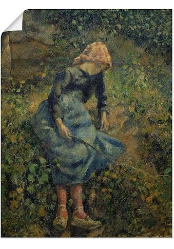 Artland Wandbild »Junges Hirtenmädchen mit Stock. 1881«, Kind, (1 St.), in vielen... kaufen