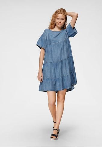 United Colors of Benetton Jeanskleid, in verspielter Stufenoptik kaufen