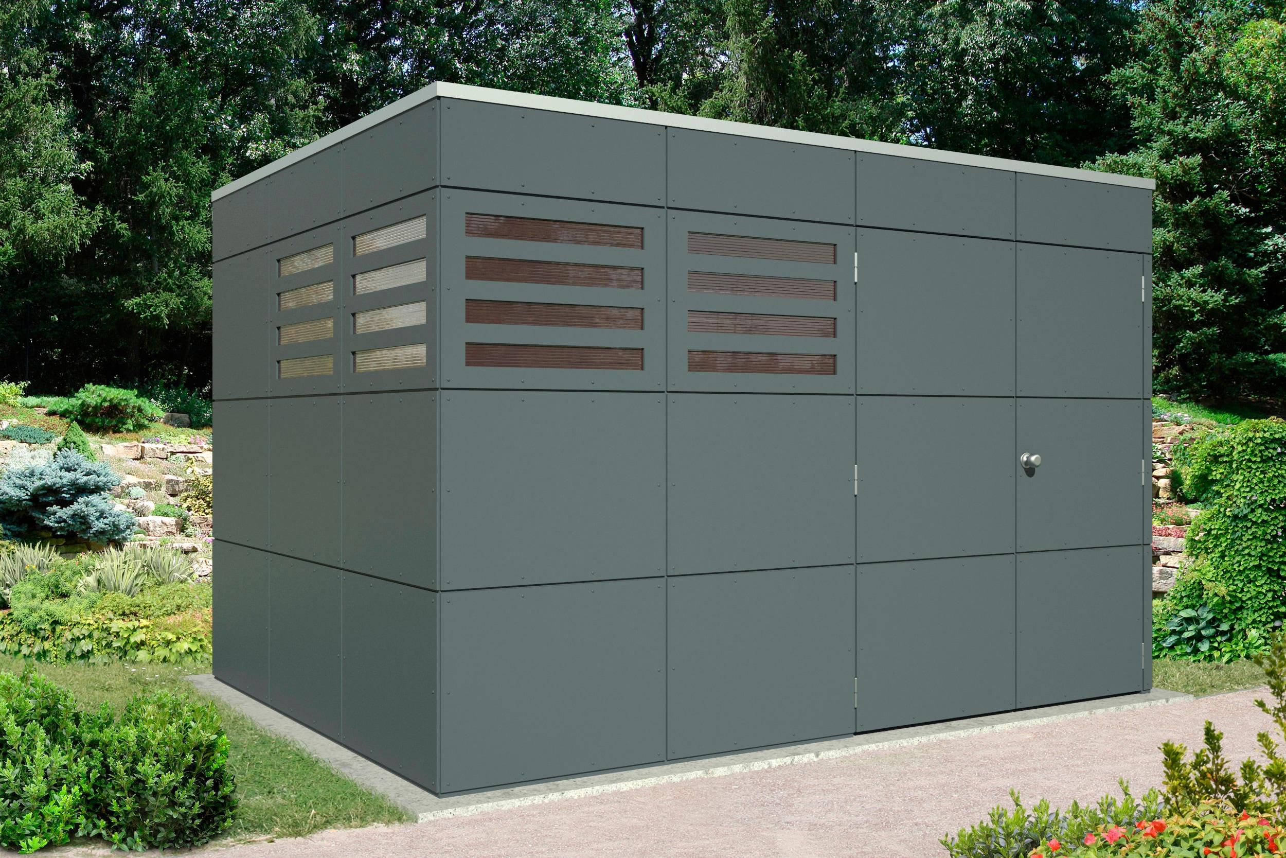 SKANHOLZ Gartenhaus »Brisbane 4«, BxT: 337x253 cm   Garten > Gartenhäuser   Grau   Holz   SKANHOLZ