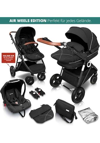 BabyGo Kombi-Kinderwagen »Halime AIR 3in1, Anthracite Black«, mit Luftreifen, inkl.... kaufen