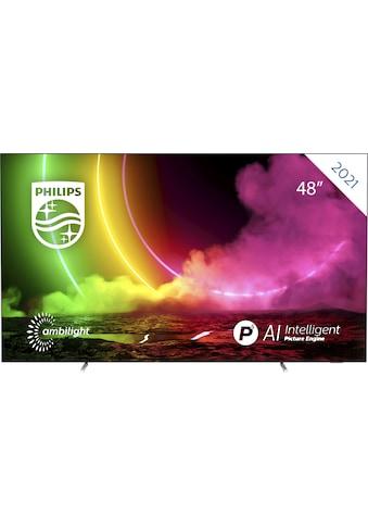 "Philips OLED-Fernseher »48OLED806/12«, 121 cm/48 "", 4K Ultra HD, Smart-TV kaufen"