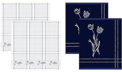 DDDDD Geschirrtuch »Lisse«, (Set, 4 tlg., Combi-Set: bestehend aus 2x Küchentuch + 2x... kaufen