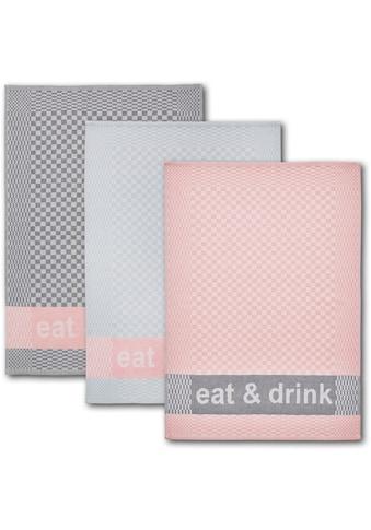 """Dyckhoff Geschirrtuch """"eat & drink"""" (Set, 6 - tlg.) kaufen"""