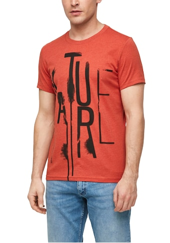 Q/S designed by Print-Shirt, mit Washed-Out-Print kaufen