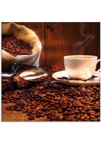 Artland Glasbild »Kaffeetasse und Leinensack auf Tisch« kaufen