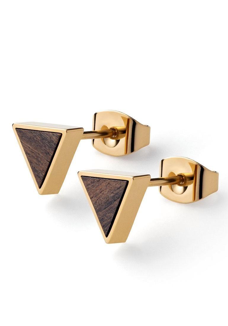 KERBHOLZ Paar Ohrstecker »Triangle Earring Sandalwood, GEOTRI1163« | Schmuck > Ohrschmuck & Ohrringe > Ohrstecker | Goldfarben | KERBHOLZ