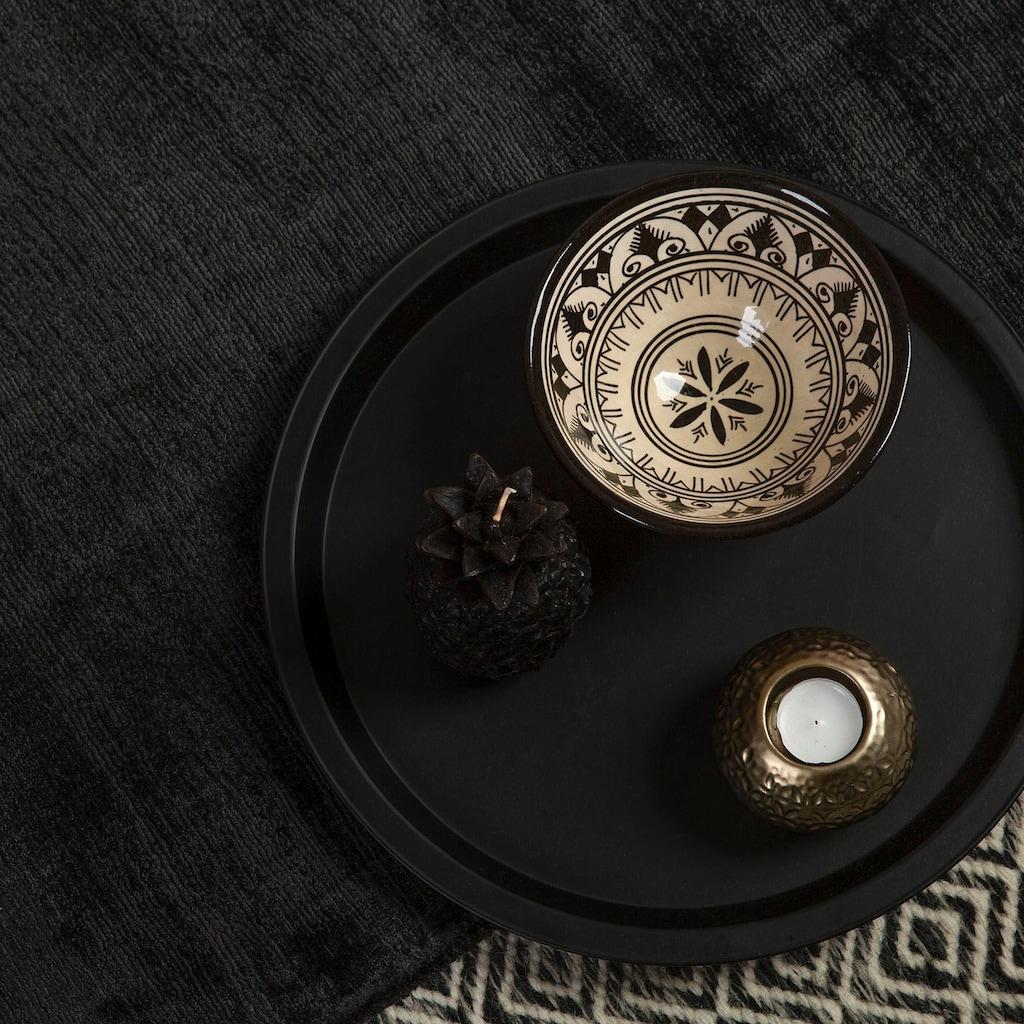 Obsession Teppich »My Maori 220«, rechteckig, 13 mm Höhe, handgewebt, Obermaterial: 100% Viskose, große Farbauswahl, Wohnzimmer