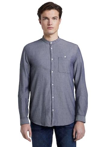 TOM TAILOR Denim Langarmhemd, mit Mao-Kragen kaufen