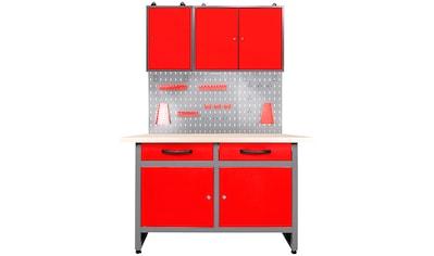 ONDIS24 Werkstatt - Set 120 cm, mit Lochwandsystem inkl. Haken, mit LED kaufen