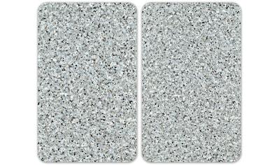 """WENKO Herd - Abdeckplatte """"Universal Granit"""", Glas Kunststoff, (Set, 2 - tlg.) kaufen"""