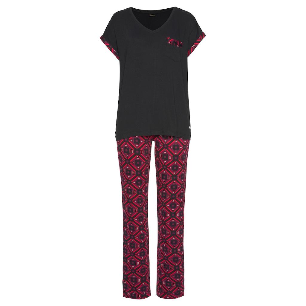 LASCANA Pyjama, mit Grafikprint