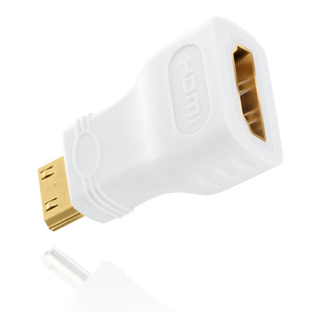 CSL miniHDMI auf HDMI Adapter / Full HD 1080p »mini HDMI C Stecker auf HDMI A Buchse«