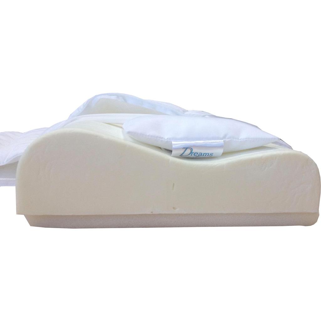 Nackenstützkissen, »DeLuxe Visco«, Dreams, Bezug: 100% Baumwolle