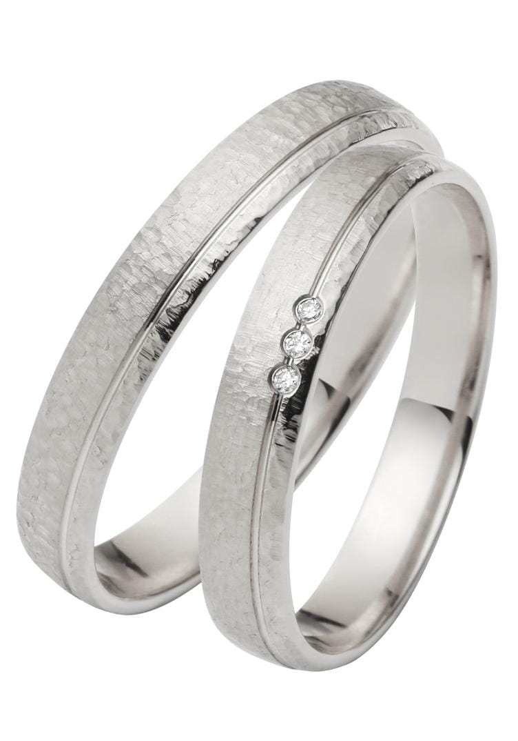 Firetti Trauring mit Gravur »3, 5 mm, Hammerschlag, Diamantschnitt«   Schmuck > Ringe > Ringe mit Gravur   FIRETTI