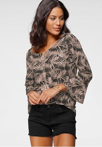 Laura Scott Rundhalsshirt, mit Ärmelvolant und Quastendetail kaufen