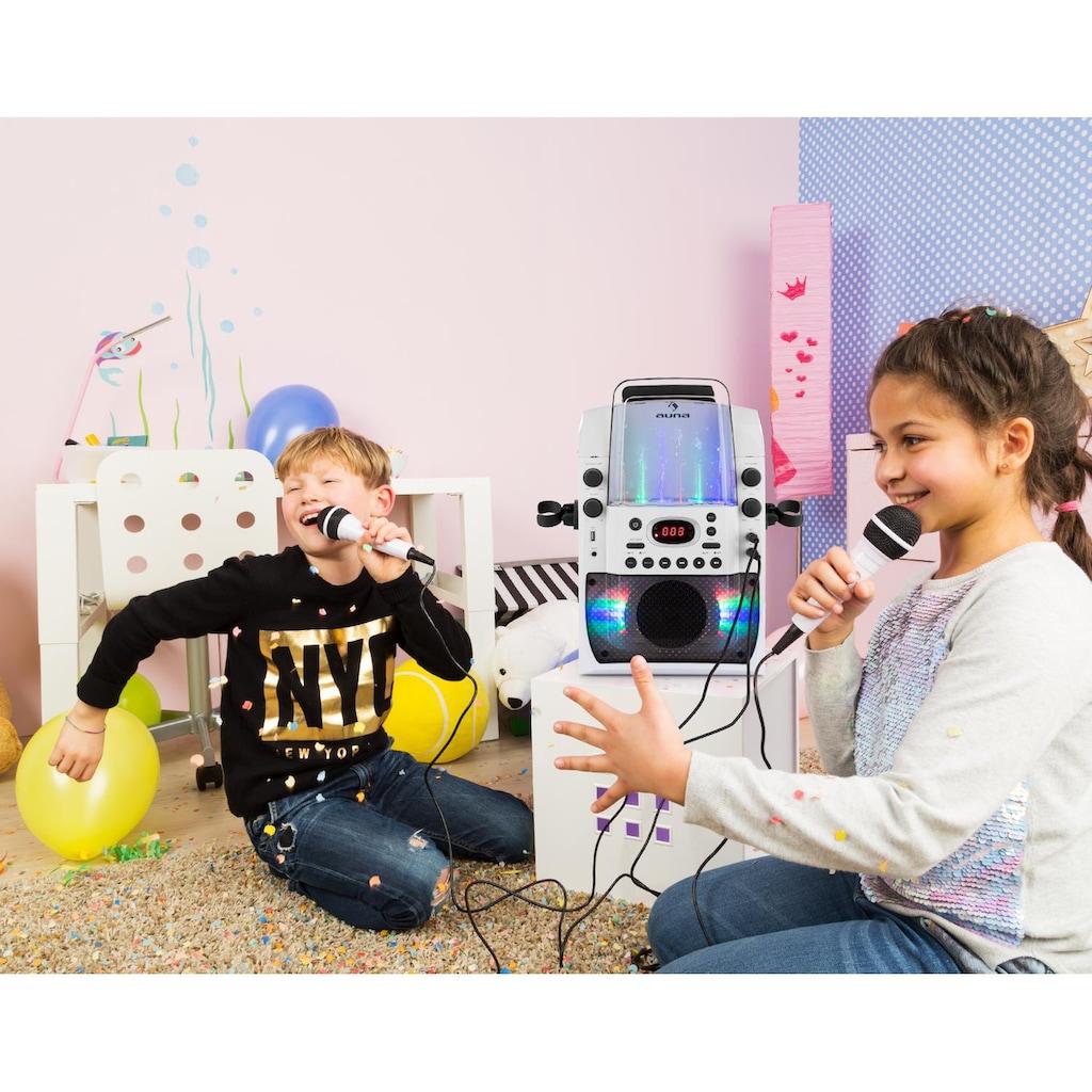 Auna Kara Liquida BT Karaoke-Anlag Mikrofone Lichtshow Wasserfontäne