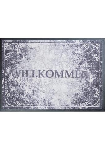 Grund Fußmatte »Willkommen«, rechteckig, 8 mm Höhe, Schmutzfangmatte, mit Spruch, In-... kaufen