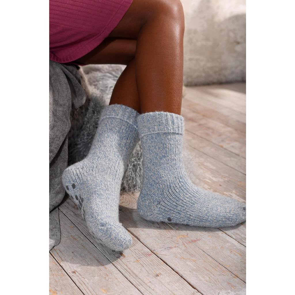 Sympatico ABS-Socken, (1 Paar), aus Strick mit rutschfester Sohle