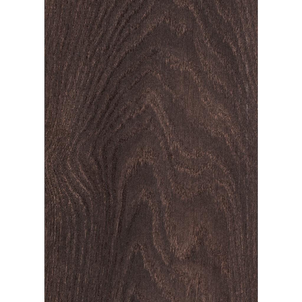 ter Hürne Laminat »Eiche tiefbraun«, mit fühlbarer Oberfläche und Klicksystem