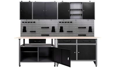 ONDIS24 Werkstatt - Set 7 -  tlg., 2x Werkbank, 2x Werkzeugwand, 3x Hängeschrank kaufen