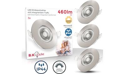 B.K.Licht LED Einbauleuchte, LED-Board, Warmweiß, LED Einbaustrahler Bad Spots Lampe ultraflach Deckenspots IP44 kaufen
