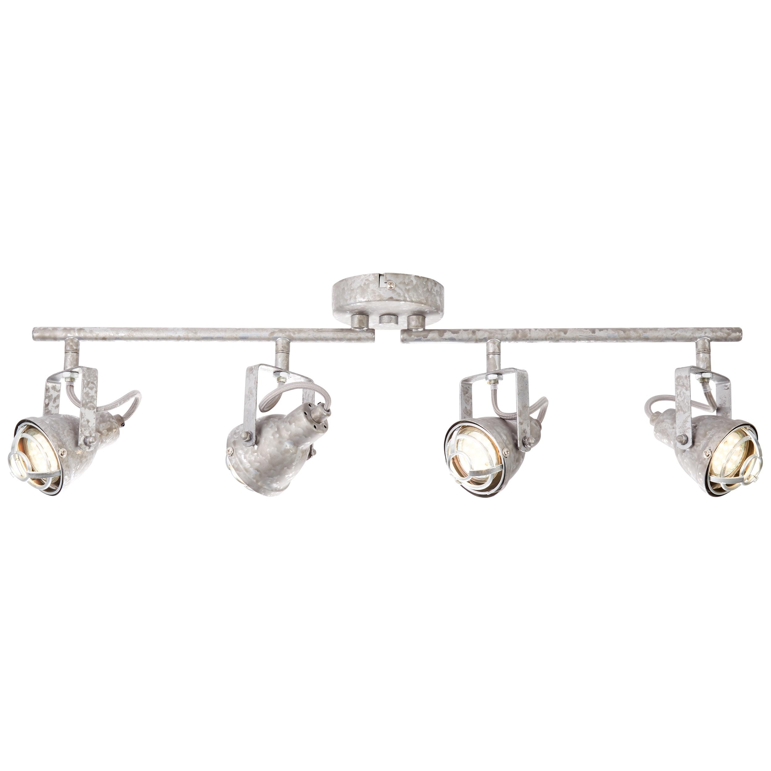 Brilliant Leuchten Bente Spotrohr 4flg zink antik   Lampen > Strahler und Systeme > Strahler und Spots   Rot   Metall   BRILLIANT LEUCHTEN