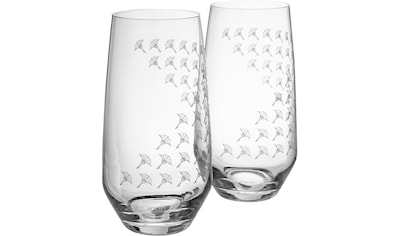 Joop! Longdrinkglas »JOOP! FADED CORNFLOWER«, (Set, 2 tlg.), mit Kornblumen-Verlauf... kaufen