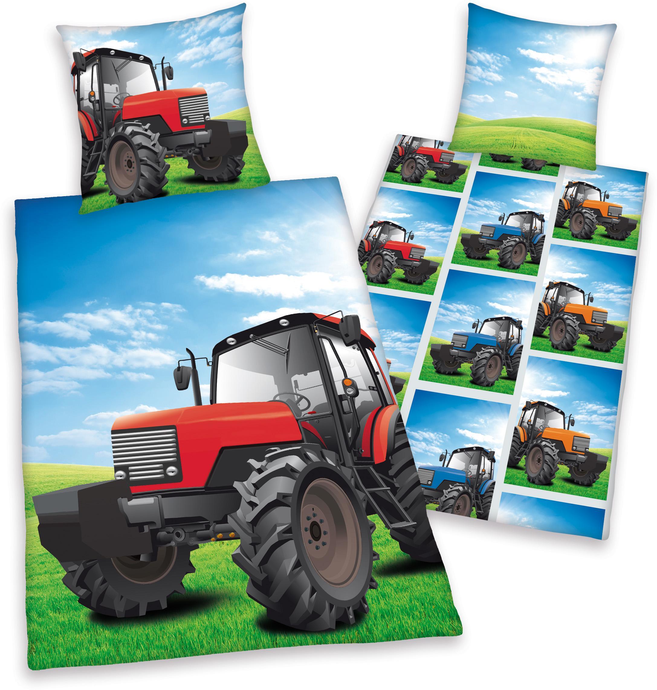 Kinderbettwäsche »Traktor«, Young Collection | Kinderzimmer > Textilien für Kinder > Kinderbettwäsche | Bunt | HERDING YOUNG COLLECTION