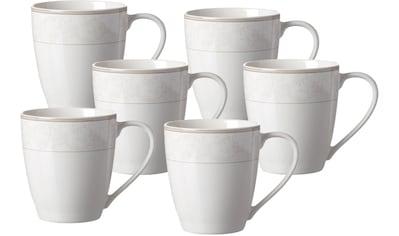 Ritzenhoff & Breker Becher »Isabella«, (Set, 6 tlg., Das Set besteht aus 6 Kaffeebechern), Porzellan mit extravagantem Dekor kaufen