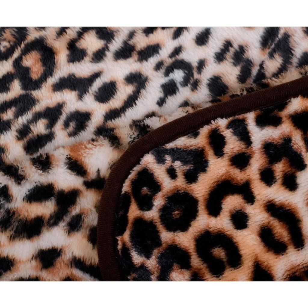 Gözze Wohndecke »Leopard«, mit gedrucktem Motiv