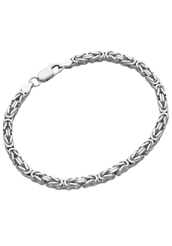 Firetti Silberarmband »Königskettengliederung, 4,1 mm, glanz, diamantiert, rhodiniert« kaufen