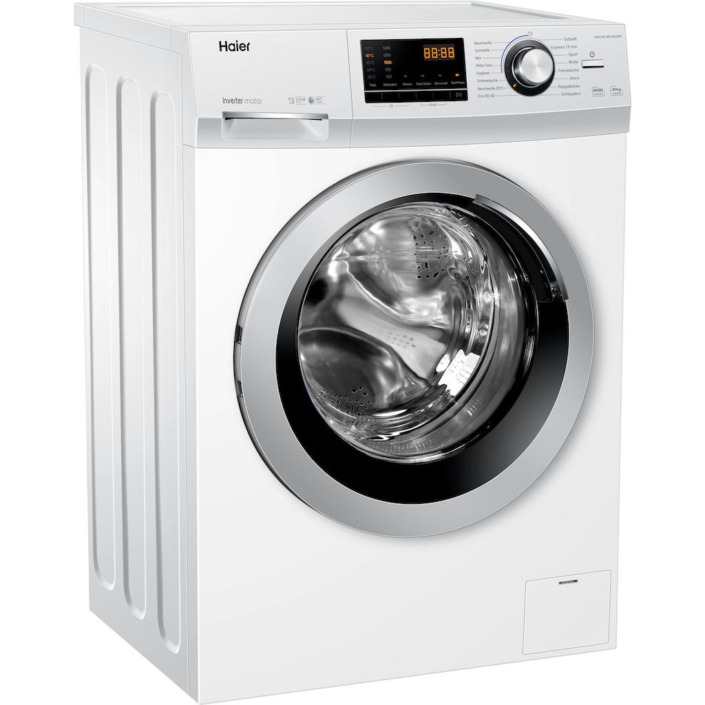 Haier Waschmaschine »HW100-BP14636«, HW100-BP14636, 10 kg, 1400 U/min