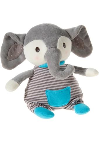 Heunec® Plüschfigur »FrohNATURen GOTS Elefant Plüschi, riverblue«, GOTS organic,... kaufen
