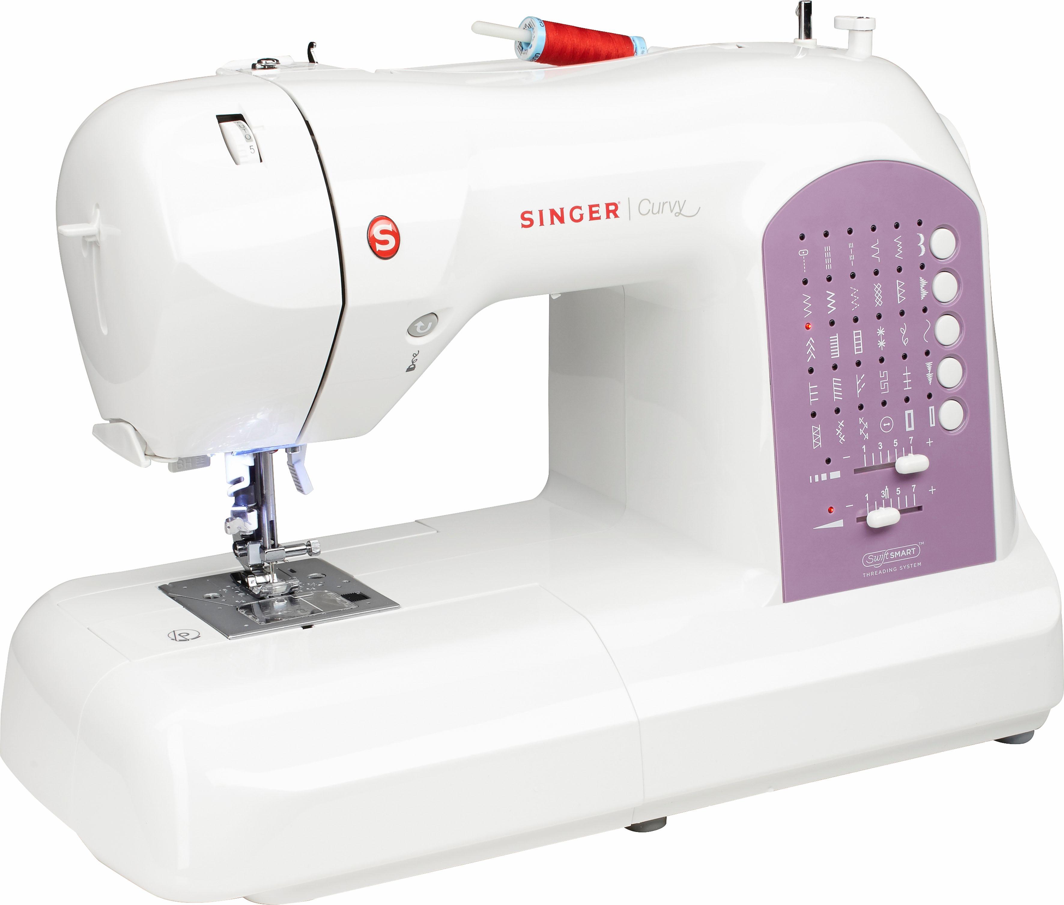 Singer Computer-Nähmaschine Curvy™ 8763 | Flur & Diele > Haushaltsgeräte > Strick und Nähmaschinen | Weiß | SINGER