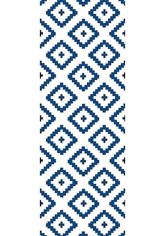 QUEENCE Vinyltapete »Olm  -  blau«, 90 x 250 cm, selbstklebend kaufen
