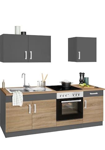 HELD MÖBEL Küchenzeile »Gera«, mit E - Geräten, Breite 210 cm kaufen