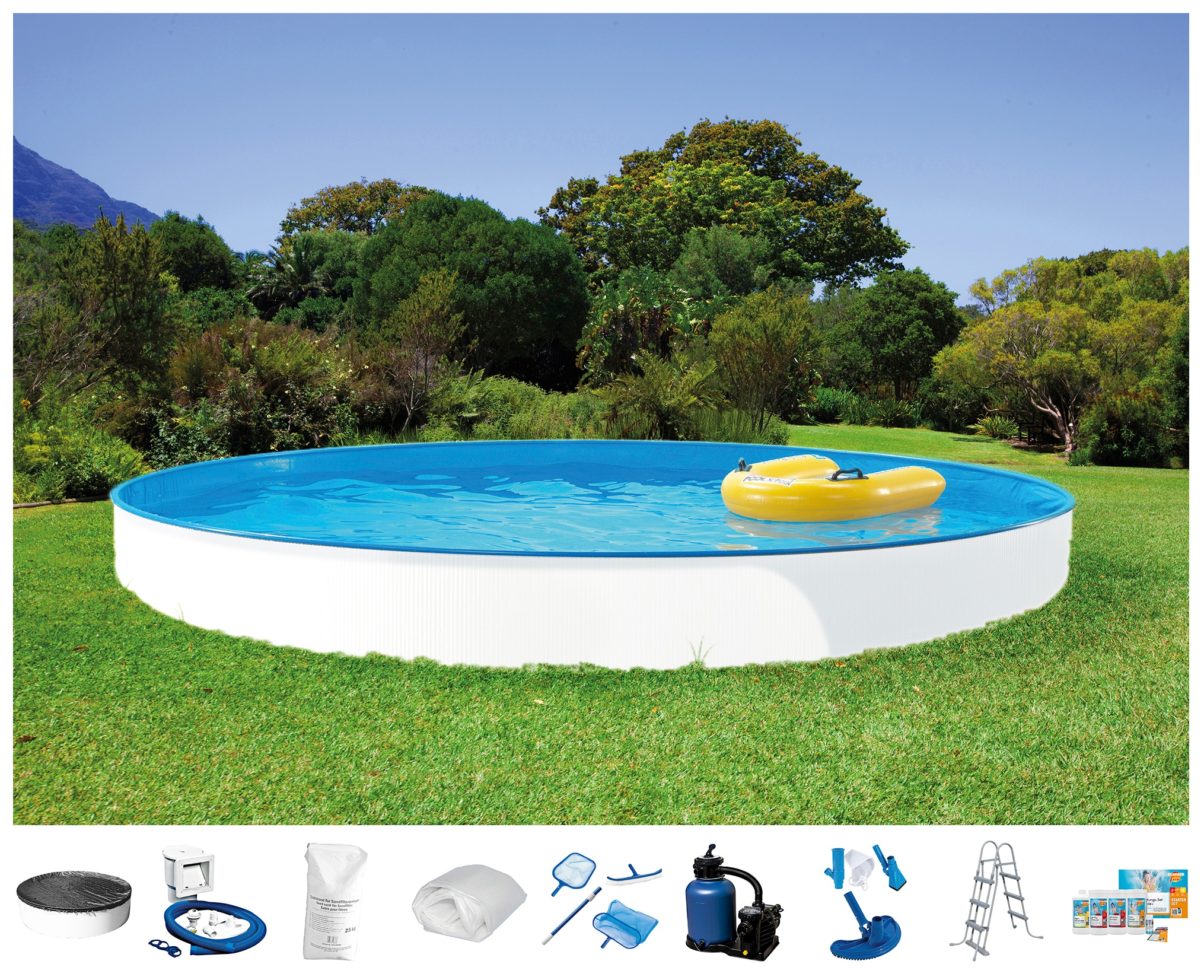 Clear Pool Set: Rundpool »Spar-Set 10-tlg.« in 9 verschiedenen Größen   Garten > Swimmingpools   CLEAR POOL