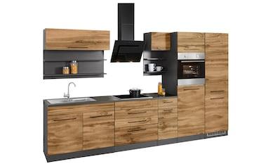 HELD MÖBEL Küchenzeile »Tulsa«, ohne E-Geräte, Breite 350 cm, schwarze Metallgriffe,... kaufen