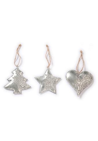 CHRISTMAS GOODS by Inge Dekohänger »Herz, Stern, Baum« (Set, 6 Stück) kaufen