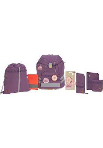 LÄSSIG Schulranzen »Unique, purple«, Reflektoren, inkl. Patches; PETA-approved vegan;... kaufen