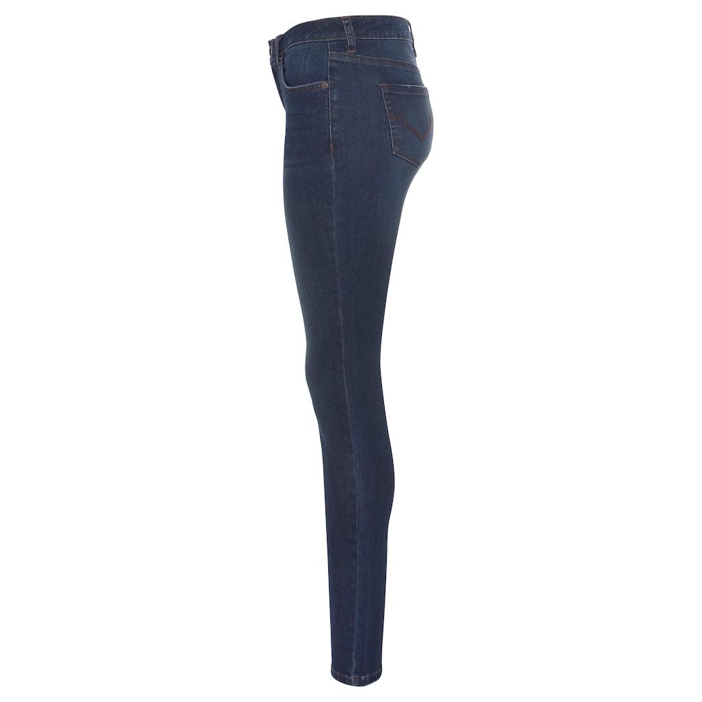 H.I.S Skinny-fit-Jeans »mid waist«, Nachhaltige, wassersparende Produktion durch OZON WASH