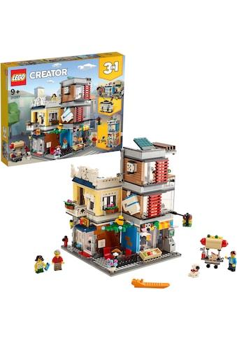 """LEGO® Konstruktionsspielsteine """"Stadthaus mit Zoohandlung & Café (31097), LEGO® Creator"""", Kunststoff, (969 - tlg.) kaufen"""